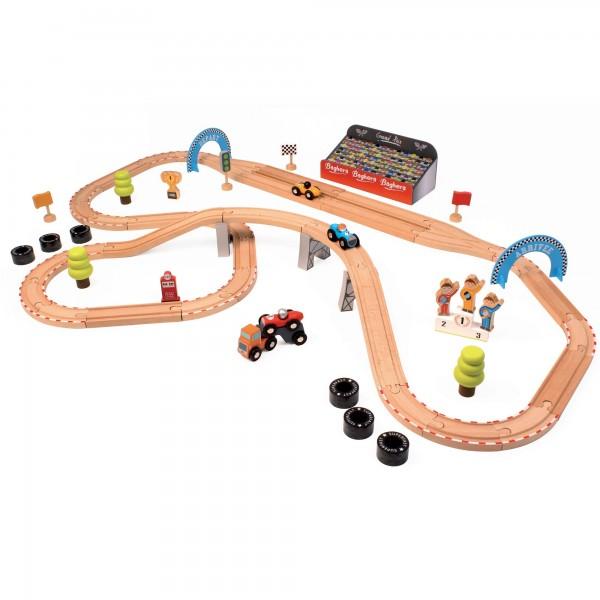 Holzrennbahn groß